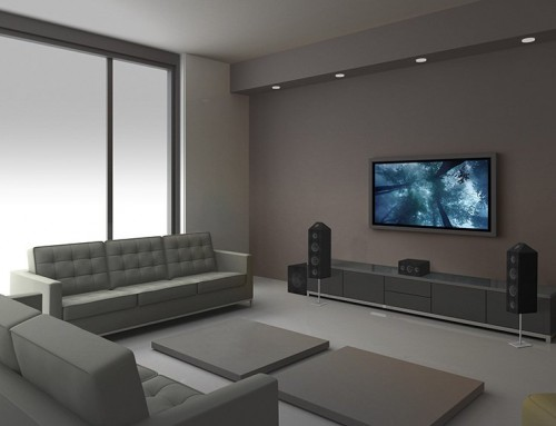 Home Theater Installation Projector Screen